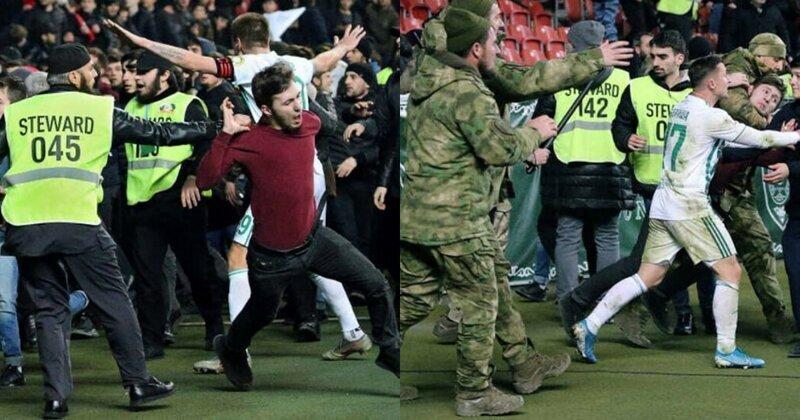 """Болельщики из Грозного оскорбились оголенными торсами фанатов """"Зенита"""" и пошли разбираться"""