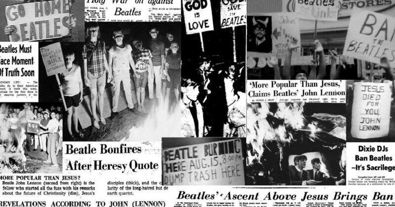 За что американцы жгли портреты The Beatles?