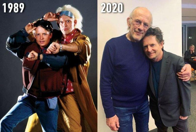 Док и Марти из «Назад в будущее» встретились спустя 35 лет после выхода фильма