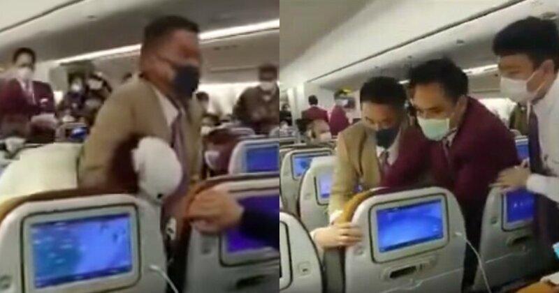 Из-за задержки рейса китаянка возмутилась, обкашляла и подралась с членами экипажа самолета