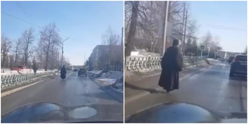 Жители Урала заметили «парящего» священника на моноколесе
