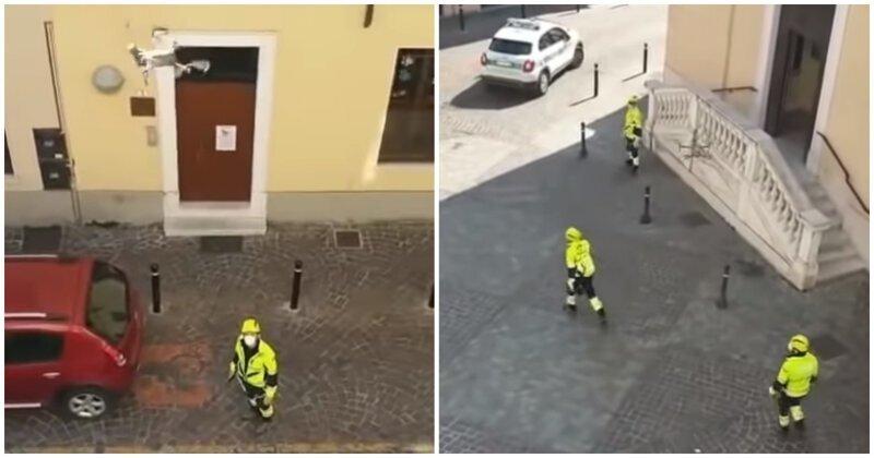 Карантин во время коронавируса сделал одну из улиц Италии похожей на Сити 17 из Half Life 2