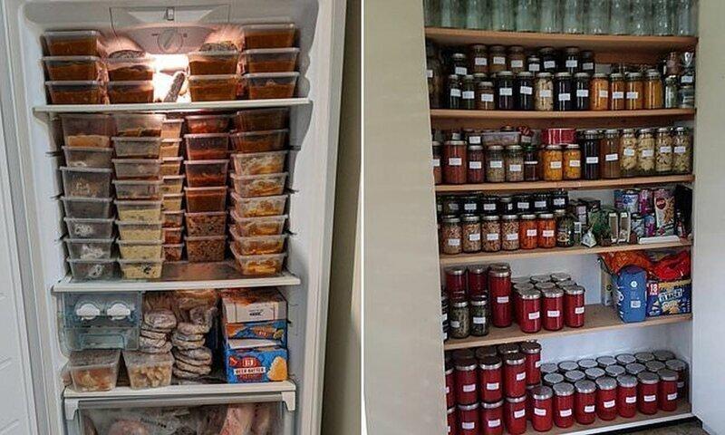 Так вот куда делась вся еда из магазинов: люди показывают свои запасы на случай карантина