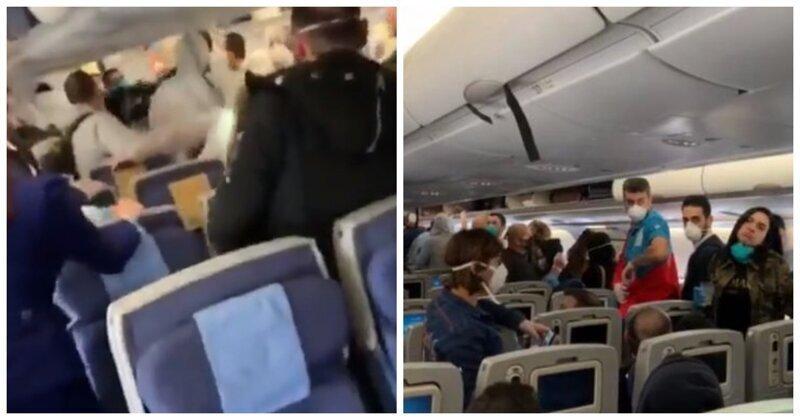 Пассажиры самолета избили шутников, которые намеренно чихали на людей