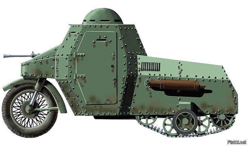 Бронецикл Гроховского представлял собой полноценный тяжелый броневик с полугу...