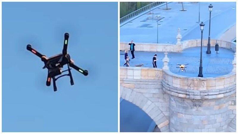 Полиция Мадрида запустила в небо дроны для напоминания о правилах самоизоляции