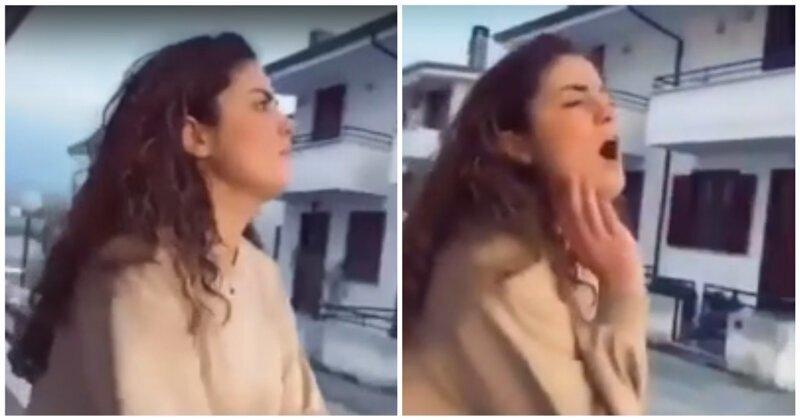 Когда решила спеть на балконе во время карантина