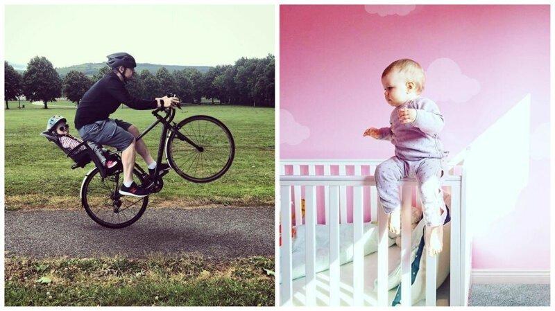 Фотошопер помещает свою маленькую дочь в опасные ситуации