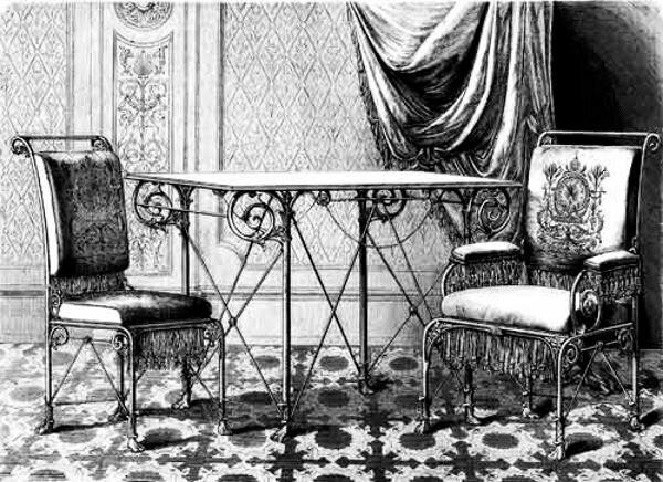 История металлической мебели