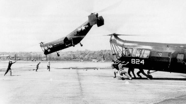 """Piasecki HRP Rescuer - военно-транспортный вертолёт США, """"Летающий банан"""""""