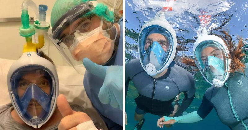 Маски для ныряния спасут жизни больных коронавирусом