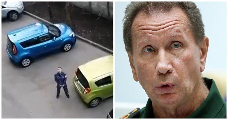 В Петербурге пьяный росгвардеец протаранил две машины и показал половой член