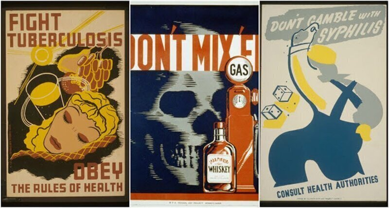18 поучительных медицинских плакатов из США (1930-е и 1940-е годы)