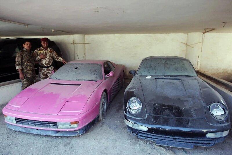 Саддам Хусейн однажды сжег коллекцию автомобилей своего сына