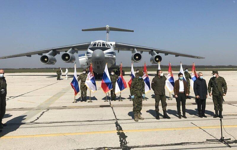В Сербию вылетел шестой Ил-76 ВКС РФ. Всего Сербия ожидает прилета 11 самолетов ВКС РФ
