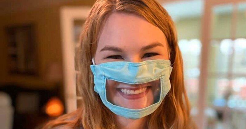 21-летняя студентка делает защитные маски для глухих