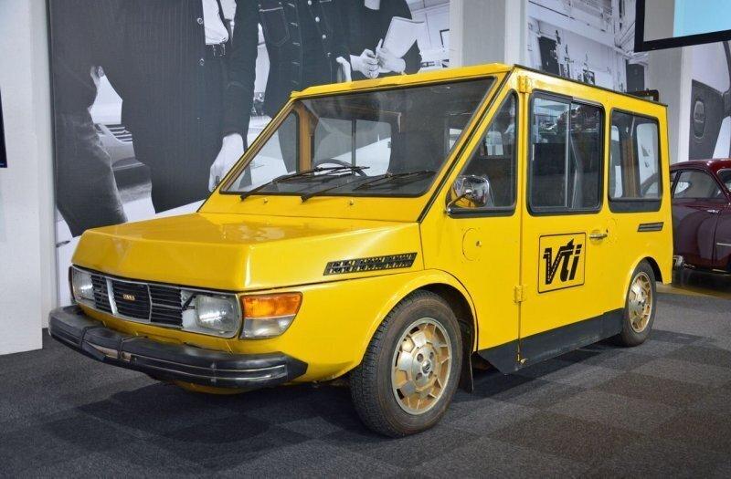 Электрический прототип фургона Saab для служб доставки 1970-х годов
