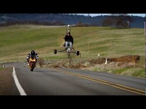 Гирокоптер и мотоцикл
