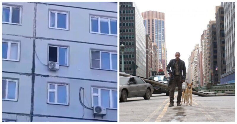 """В Казани шутник рассмешил прохожих монологом из фильма """"Я - Легенда"""""""