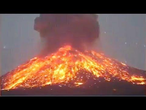 Извержение вулкана Кракатау