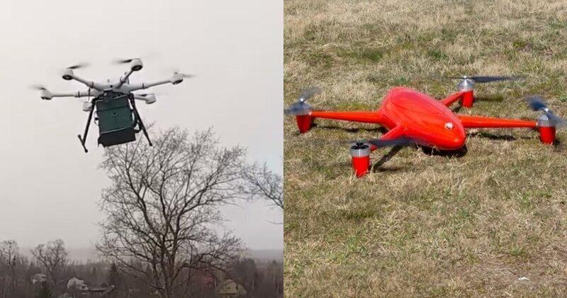 На полигоне под Тверью испытали дроны для борьбы с коронавирусом