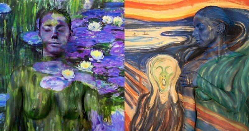 Найди модель: художница спрятала голых натурщиц в картинах известных мастеров