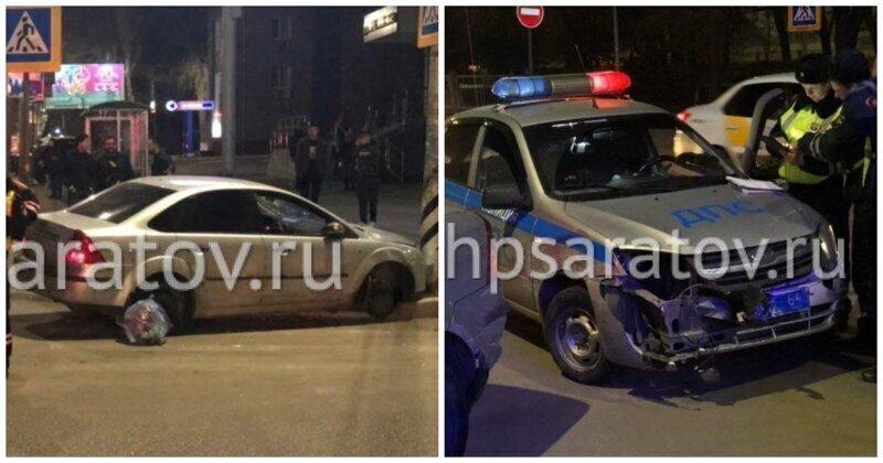 """В Саратове пьяный водитель на """"Форде"""" без покрышек пытался уйти от 9 патрульных машин"""