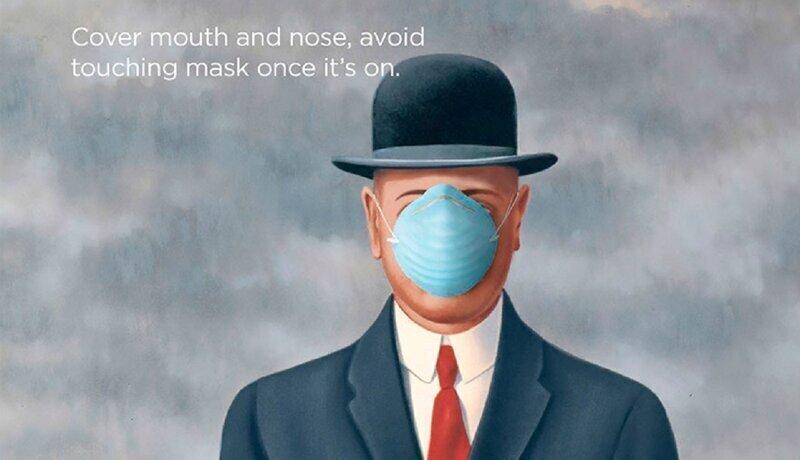 Великие художники учат правильно вести себя во время эпидемии