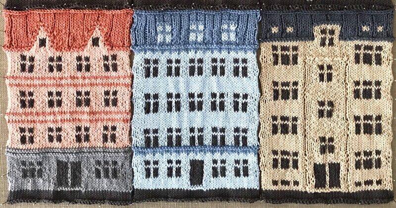 Архитектура Копенгагена на вязаном пледе Джейка Хенцлера
