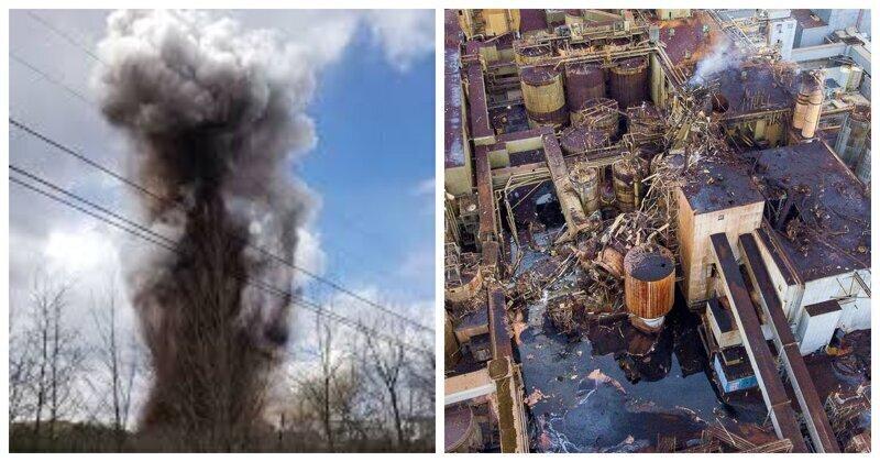 Фабрика по производству туалетной бумаги уничтожена огромным взрывом