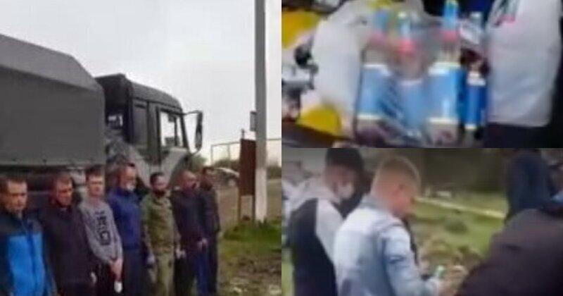 В Чечне остановили русских военных, купивших водку, и заставили вылить спиртное на землю