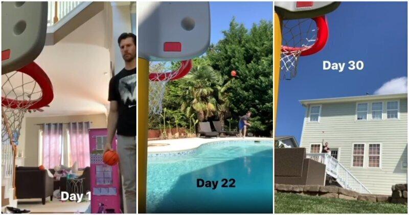 30 дней самоизоляции с детским баскетбольным кольцом
