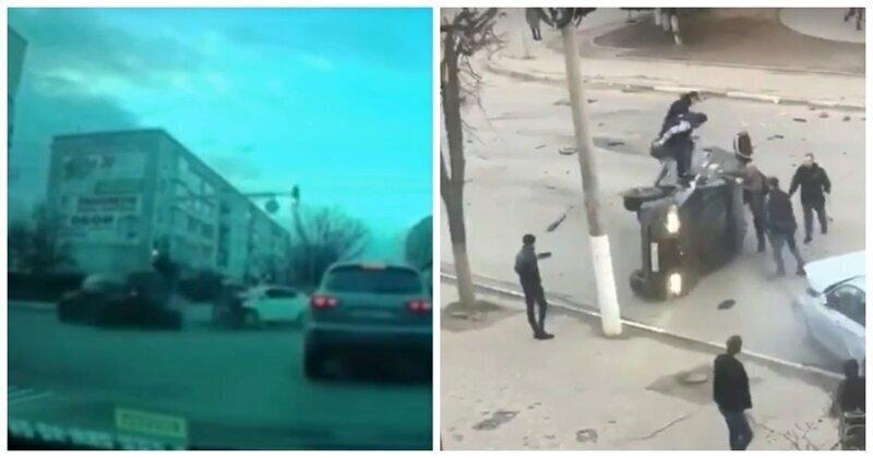 Во Владимирской области прохожие едва не линчевали водителя BMW за устроенную им аварию