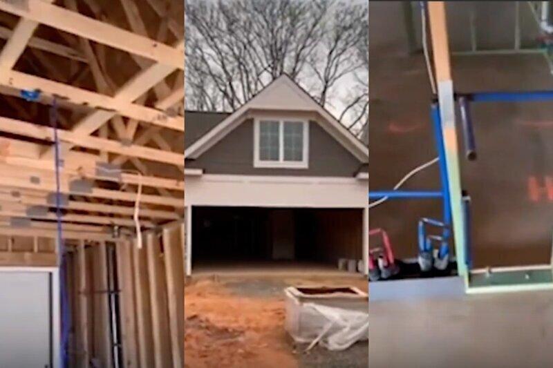 Почему герой боевика может пробить стену дома: строитель показал, как выглядит коттедж в США