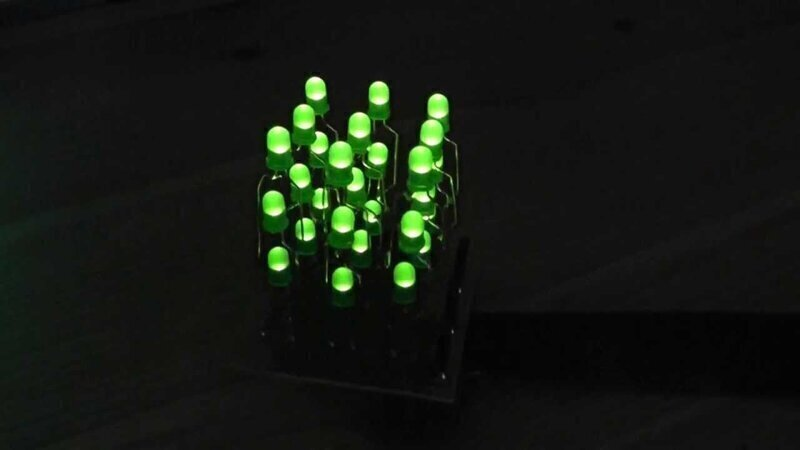 Светодиодный кубик 3Х3Х3 без программирования