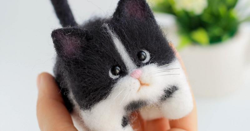 Войлочные котята рукодельницы из Северодвинска