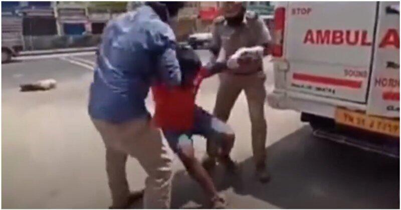 В Индии полицейские сажают нарушителей карантина к подставным больным коронавирусом