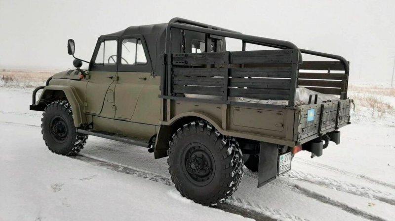 УАЗ на стероидах: редкий внедорожник из Казахстана