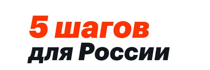 """Мои вопросы к поддерживающим """"5 шагов для России"""""""