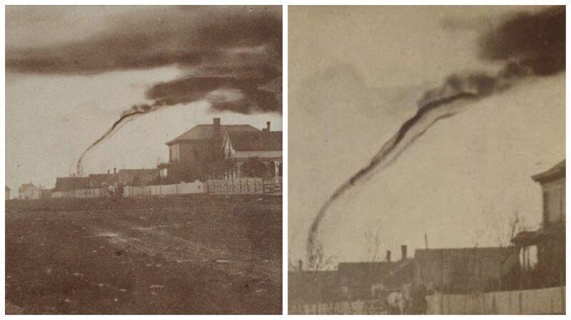 Первая в истории фотография торнадо