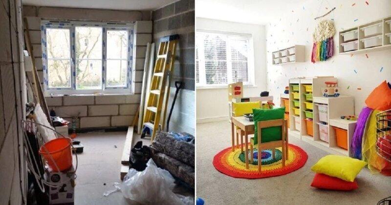 Своими руками: женщина превратила гараж в детскую игровую комнату