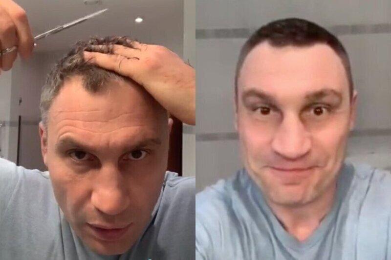 Кличко показал, как в условиях карантина обойтись без парикмахерских