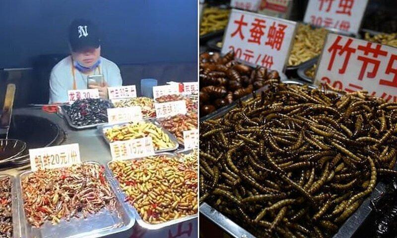 В Китае вновь открылся популярный рынок с фаст-фудом из насекомых