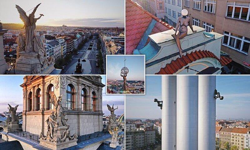 Фигуры на крышах - таинственные символы Праги