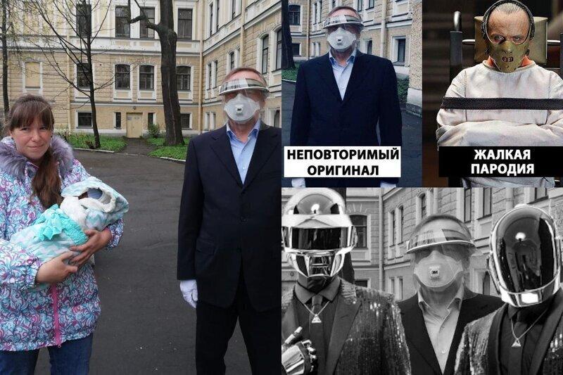 Губернатор Беглов посетил роддом и стал героем мемов