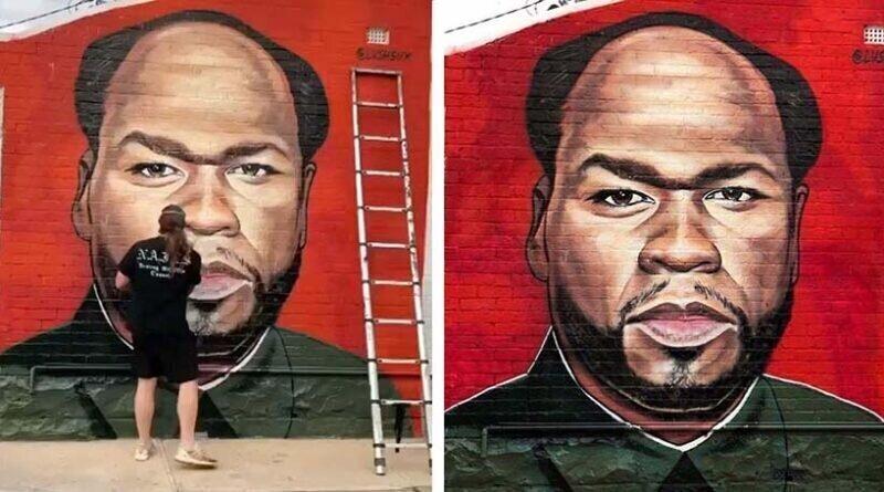Граффити-художник троллит рэпера 50 Cent