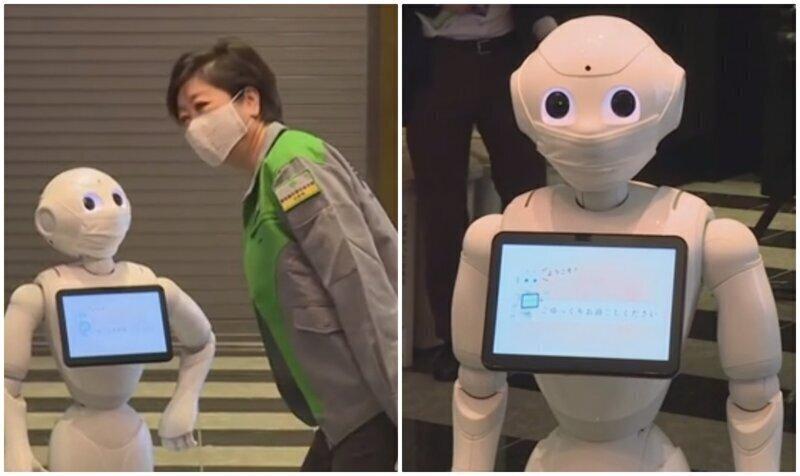 Отели с пациентами с COVID-19 в Токио оснащают роботами