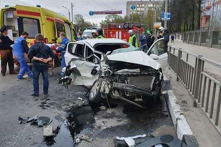 Авария дня. ДТП с тремя пострадавшими в Нижнем Новгороде