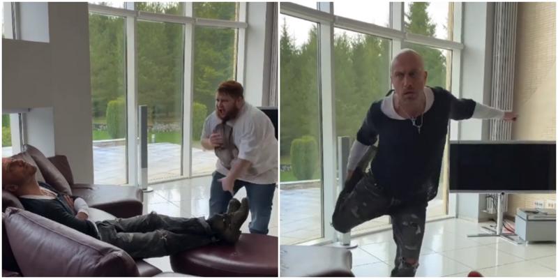 Дмитрий Нагиев станцевал с «пухляшом» из Little Big у себя дома