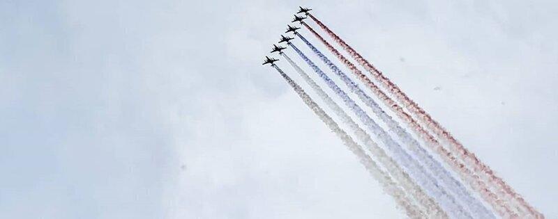 Воздушный парад Победы над Красной площадью